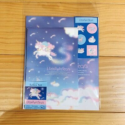 Sanrio Little Twin Stars Stationery Set With Envelopes Letter Set Rainbow