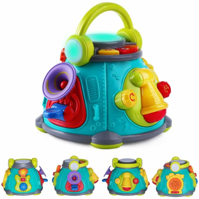 Toys For Infants >> Baby Music Activity Cube Play Center Musical Toys For Toddlers 1 3 Infants Toy
