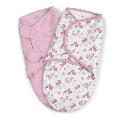 7-14lb 0-3 Months Baby Girls Swaddle Me Swaddling Wrap Blanket Sleeping Bag