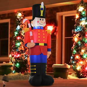 HOMCOM 6' Light Up Airblown Toy Soldier Nutcracker ...