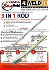Aluminio Soldadura Durafix Easyweld & Soldadura Baja Temperatura X 2 X 22 CMS E032