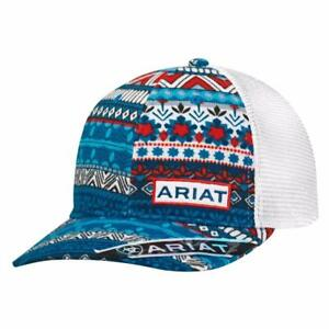 c795c095fe423 Ariat Womens Hat Baseball Cap Mesh Snap Back Patch Multicolor ...