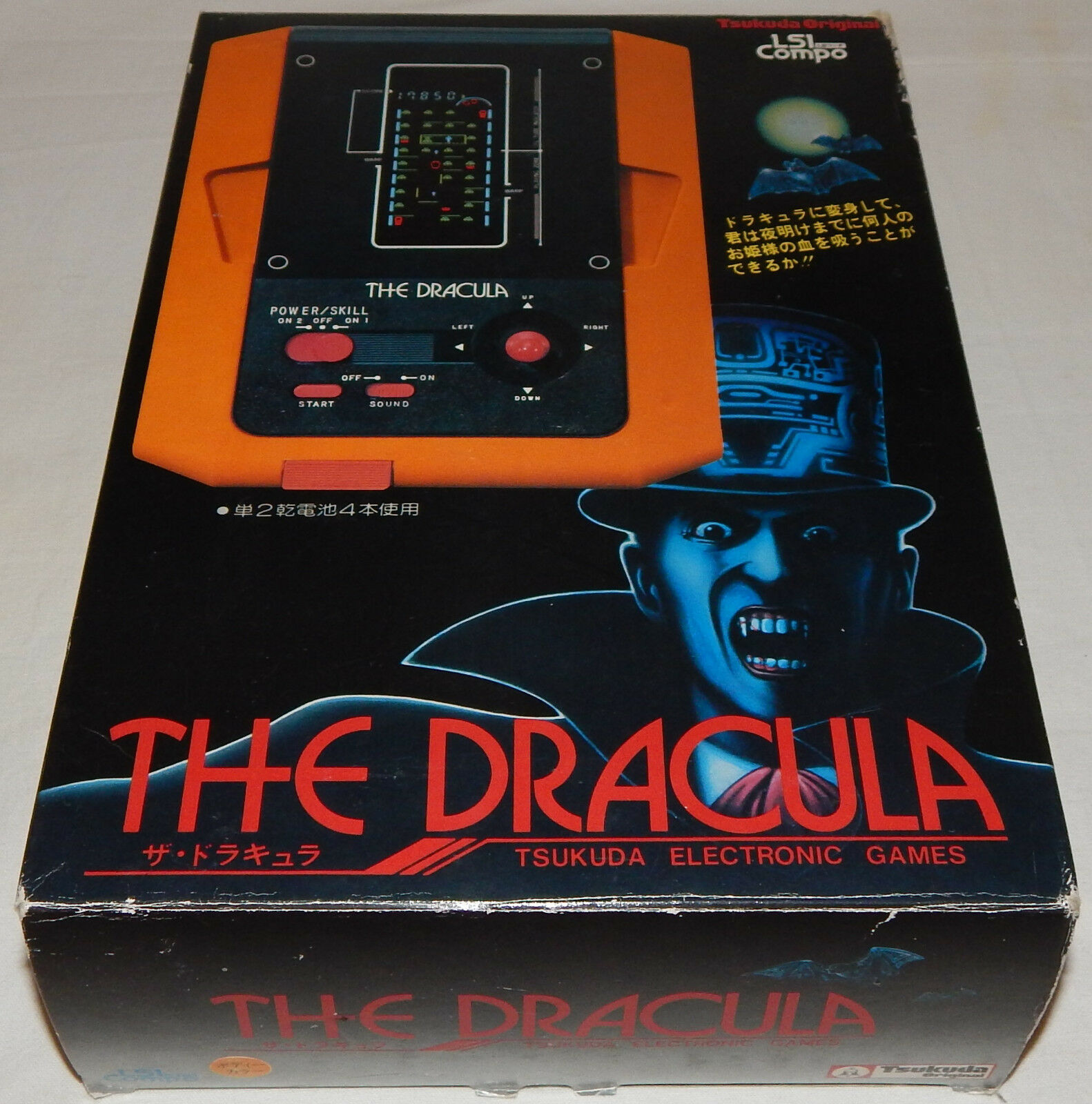 VINTAGE 1982 THE DRACULA VAMPIRE LSI TABLETOP GAME BY TSUKUDA IN BOX BOXED NOS