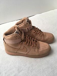 new style 93617 3e85b Image is loading Nike-Air-Force-1-High-Flax-UK-9