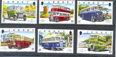 Jersey Buses set of 6 mnh (1998)