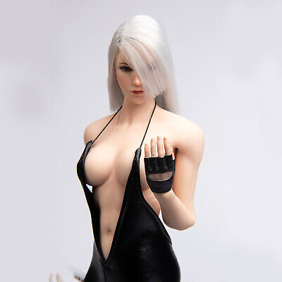 """1//6 Scale Clothes Black Leather Leotard Bodysuit for 12/"""" Hot Toys Phicen Figure"""