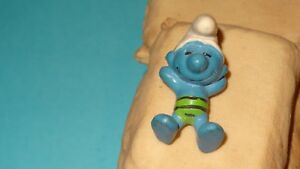 Smurfs-Sunbather-Smurf-Green-Swimsuit-70-039-20014-Rare-Vintage-PORTUGAL-Schtroumpf