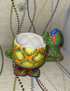 Green-Snake-COFFEE-MUG-TEA-CUP-Herzfeld-039-s-Figural-Ceramic-Palm-Beach-4-Footed