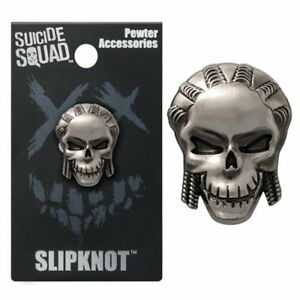 Details about Suicide Squad NEW * Slipknot Lapel Pin * Pewter Skull Charm  Pin Back Licensed