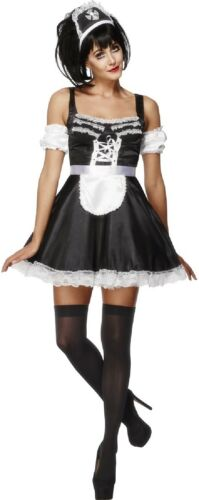 Ladies Flirty French Maid Rocky Horror Halloween Fancy Dress Costume Outfit