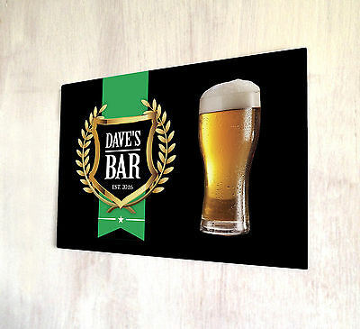 Personalised lodge cabin vacation outdoor black est label sign A4 metal Sign