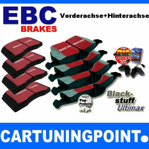 EBC Bremsbeläge VA+HA Blackstuff für Peugeot 206 2A//C DP1366 DP458//2