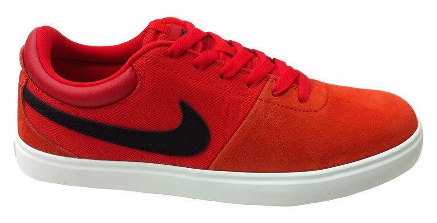 Mens NIKE RABONA LR Red Textile Suede Trainers 641747 601