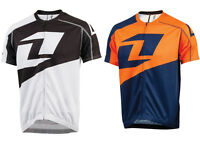 ONE INDUSTRIES ION FULL ZIP MTB BIKE JERSEY cycle WHITE shirt top BLACK cycling