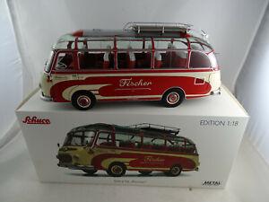 01:18 Schuco 450034600 Bus Setra S6 Fischer Le Voyage Rouge