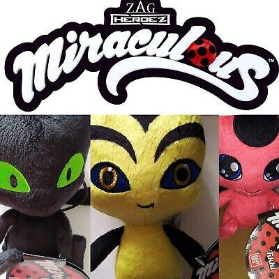 Miraculous TIKKI /& PLAGG Plush Zag Heroez Red Ladybug Black Cat Doll