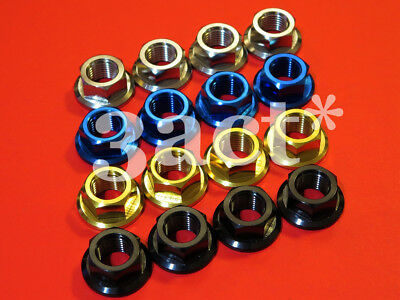 Ti Gold Blue Black Easy And Simple To Handle 4 M12 X 1.25 Pitch Titanium/ti Sprocket Flange Bolt Nut