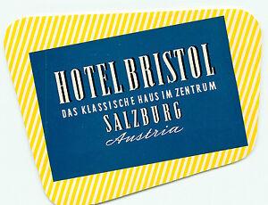 VIENNA WIEN AUSTRIA HOTEL BRISTOL VINTAGE LUGGAGE LABEL