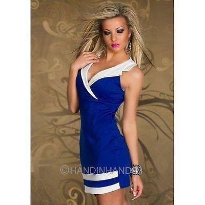 New Women's Sexy Summer Deep V-Neck Tops Sleeveless Clubwear Sailor Mini Dress