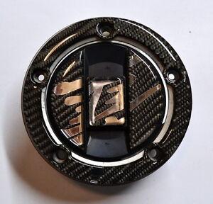 Suzuki-Hayabusa-CARBON-FIBER-CHROME-Tank-Cap-Filler-Cover-Sticker-pad-protector