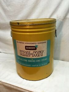 Primitive-Large-Lard-Metal-Tin-Can-Kitchen-Decor-Early-1900s-KRE-MIT-Lard