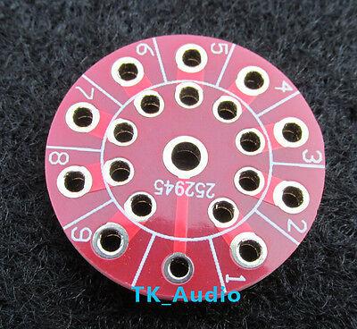 4PCS PCB Adapter Board CMC 9 Pin ECC83 12AX7 EL84 Socket
