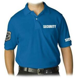Details about NEW MEN'S EMBROIDERY PATCH SECURITY GUARD UNIFORM ROYAL BLUE POLO SHIRT ALL SIZE