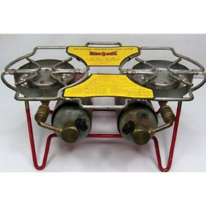 Vintage 1950's Bernz-O Matic TX-800 2 Burner CAMP STOVE Outdoor Cooking
