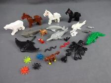 Lego Lot of 25 Various Animals Dolphin Shark Bear Dog Ray Bat Parrot Sawfish - C