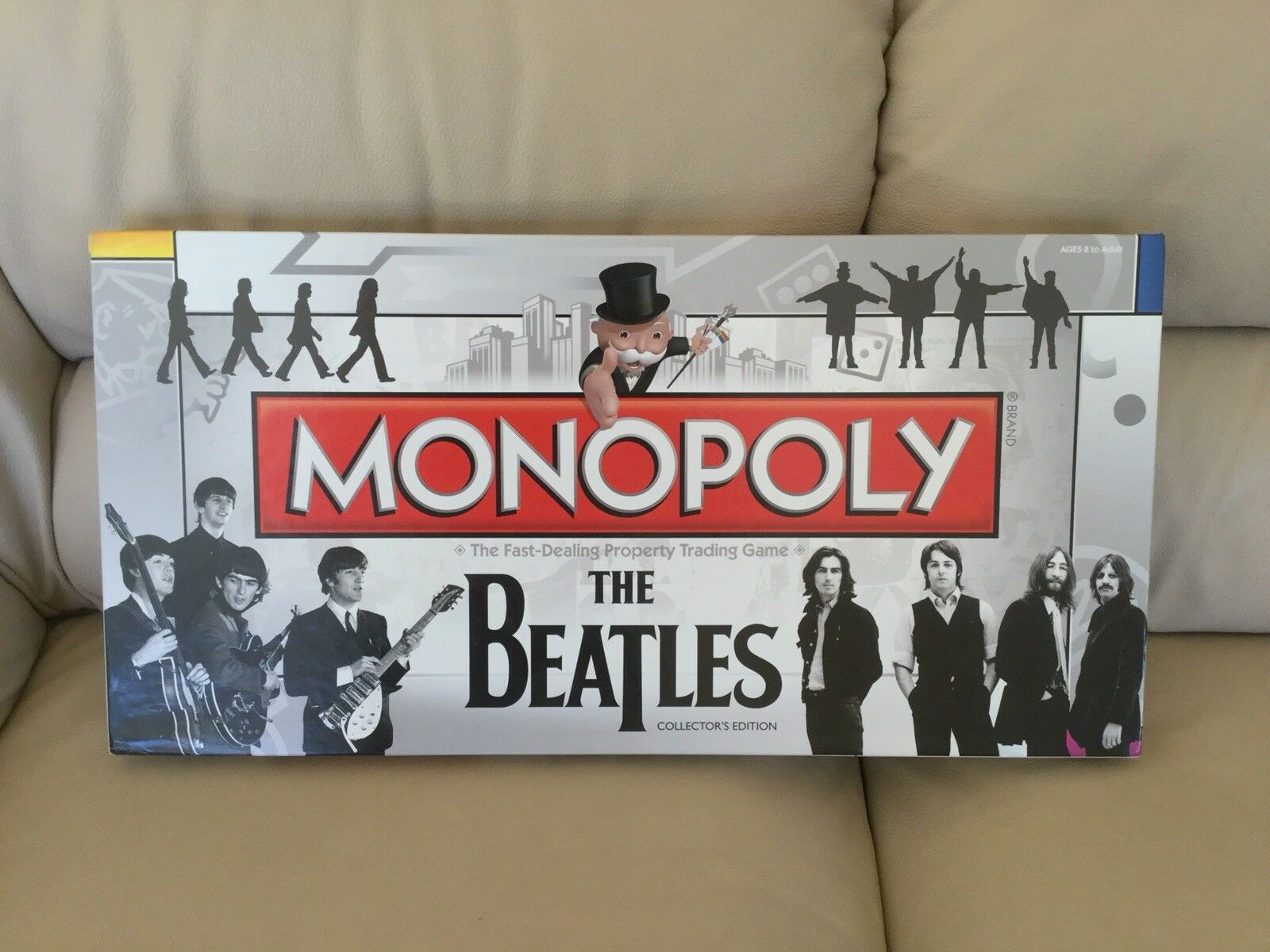 The Beatles Collectors Edition Monopoly Board Game-Parts Still Sealed MIB