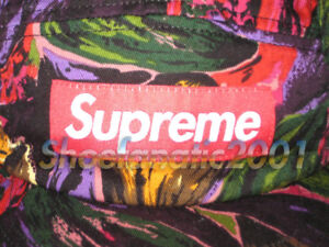 15f5a3da19a Supreme Painted Floral Camp Cap 5 Panel Purple Box Logo Adjustable ...