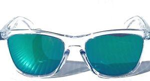 e5bcae9a0ac NEW  Oakley Frogskins Clear Crystal w JADE Iridium Sunglass 9245-38 ...