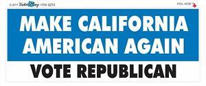 MAKE-CALIFORNIA-AMERICAN-AGAIN-CONSERVATIVE-POLITICAL-BUMPER-STICKER-9274