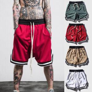 New-Mens-Casual-Shorts-Hip-Hop-Mesh-Gym-Sports-Basketball-Drawstring-Sweatshorts