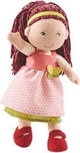 Haba-302841-Puppe-Mona-suesse-Stoffpuppe-mit-Kleidung-und-Haaren-30-cm-S