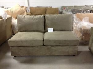 Remarkable Details About Pottery Barn Pearce Couch Sofa Sectional Pewter Everyday Suede Armless Loveseat Machost Co Dining Chair Design Ideas Machostcouk