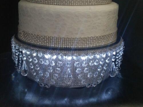 Diamante LED iluminated cake  stand  pendant swag bling