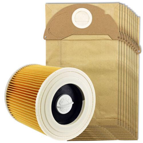 KARCHER Wet /& Dry A2000 A2003 Aspirapolvere /& Filtro Polvere Sacchetti Confezione da 10 sacchetti