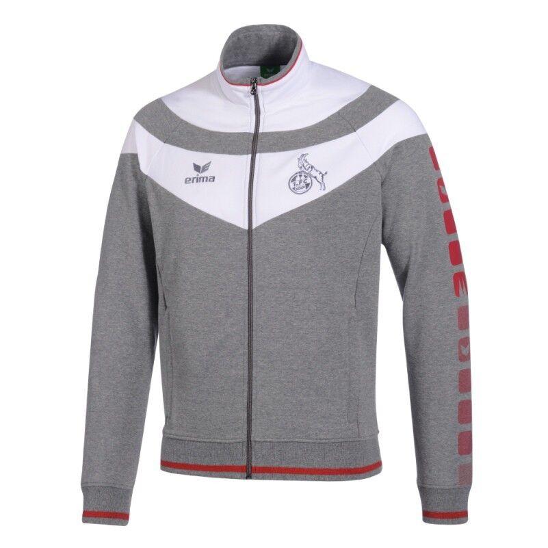Erima 1.FC Köln 5-Cubes Sweatjacke 2014 2015 grau weiß