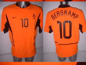 f1b1d8705 Image is loading Holland-Bergkamp-Netherlands-Nike-Adult-M-Shirt-Jersey-