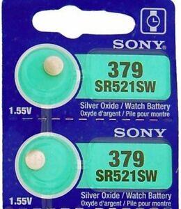 2-Piles-Montre-1-55V-SONY-379-Argent-AG0-SR63-V379-SR521SW-LR521-D379-SR521