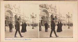 Italia Venezia Place Chiamato Foto Stereo Amateur Vintage Analogica c1920