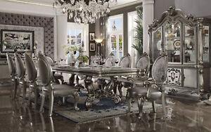 Palazzo-traditionnel-Platinum-salle-a-manger-Set-11-Piece-Rectangulaire-Table-amp-Chaises