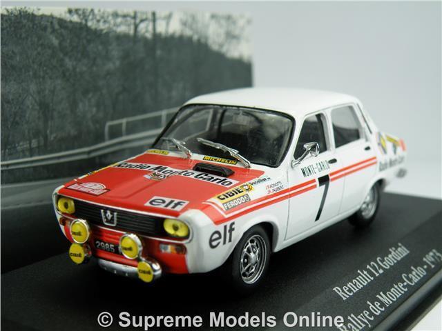 RENAULT 12 GORDINI MODEL CAR 1 43 1973 IXO ATLAS LA SAGA RALLY MONTE CARLO K8