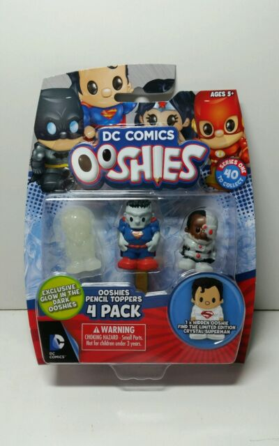 Dc Comics - Ooshies 4 Pack figures Pencil toppers - box 2 with glow in the dark