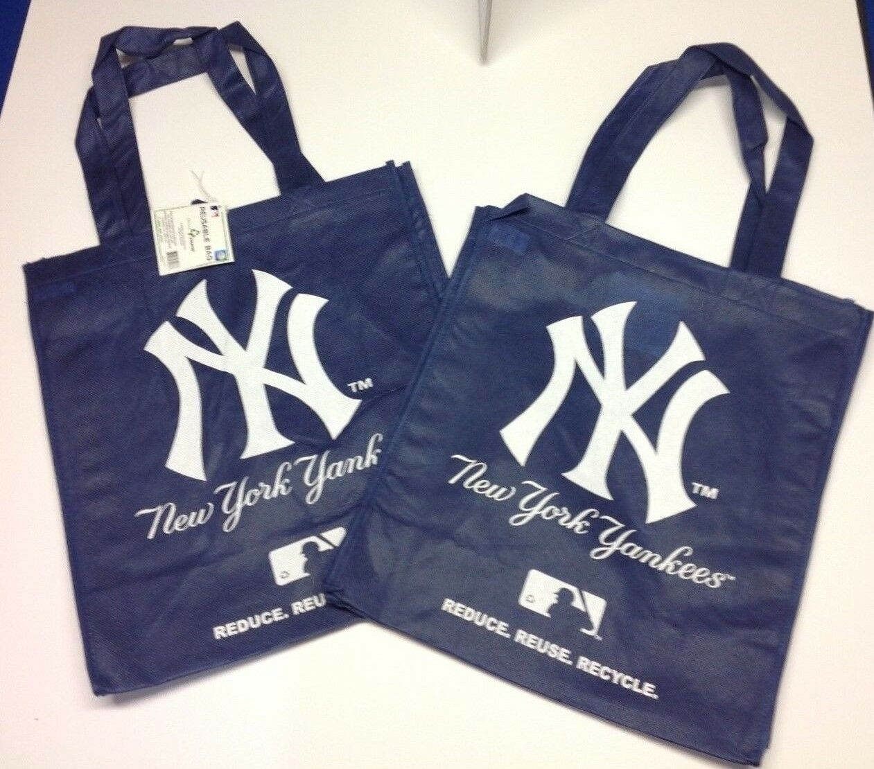 New York Yankees Forever Collectibles MLB Reusable Bag - Set Of 2