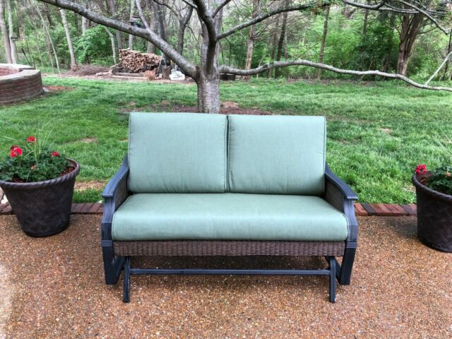 Hampton Bay Posada 7 Piece Decorative Outdoor Patio Dining Set With Gray Seats 6 For Sale Online Ebay