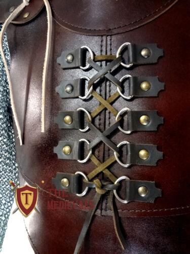 medieval costume original Leather Vest armor 4 mm Leather Armor sca larp