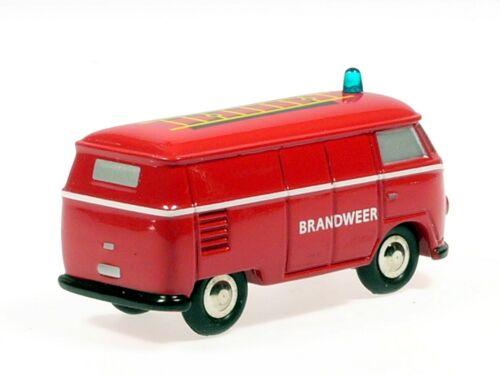 """Schuco Piccolo VW T1 Kasten Feuerwehr Niederlande /""""Brandweer/"""" # 50132900"""