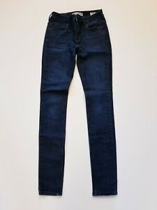 Bullhead-Denim-Co-Womens-Dark-Wash-High-Rise-Skinniest-Skinny-Jeans-Size-1